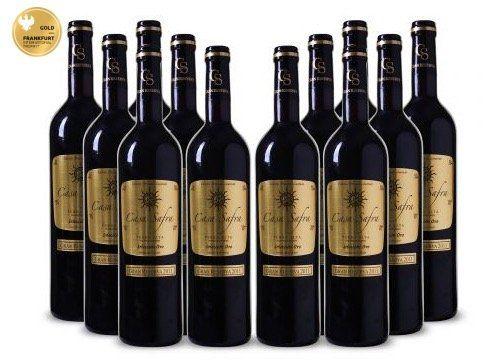 Knaller! 6 Flaschen Casa Safra Rotwein für 27€ (statt 45€) oder 12 Flaschen für 48€ (statt 70€)   goldprämiert!