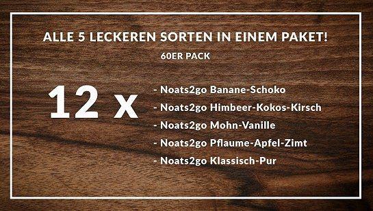 mymuesli Noats2go Angebote bei vente privee   z.B. 12 x Noats2go Klassisch Pur für 10,90€