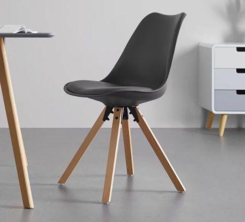 Stuhl Ricky mit Holzfüßen für 26,88€ (statt 36€)   auch mehrere Stühle möglich
