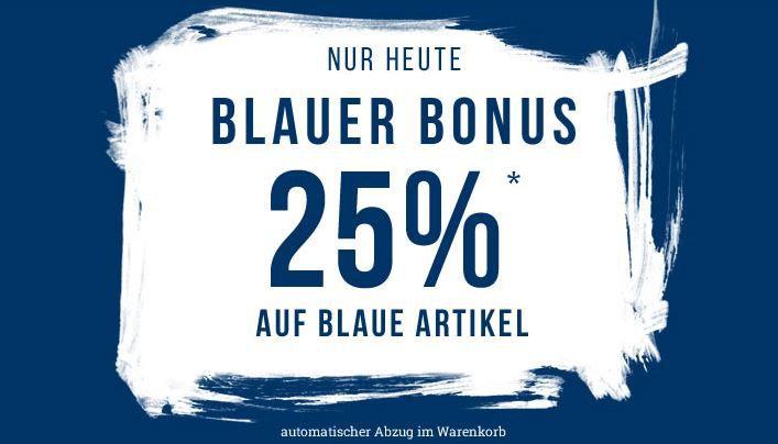 Tom Tailor Flash Sale mit 25% extra Rabatt auf blaue Fashion bis Mitternacht