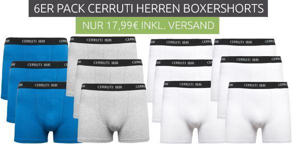 6er Pack Cerruti Boxershorts für je Set 14,99€ (statt 29€)