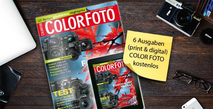 ColorFoto Halbjahresabo ColorFoto gratis – Kündigung notwendig