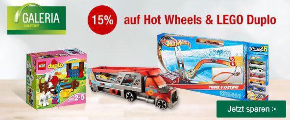 Duplo Rabatt Aktion Hot Wheels & LEGO Duplo mit 15% Rabatt @Galeria Kaufhof