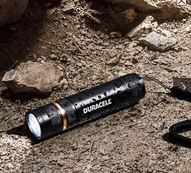 Duracell Tough CMP 10C   LED Alu Taschenlampe + 2 Gratisartikel für nur 7,94€