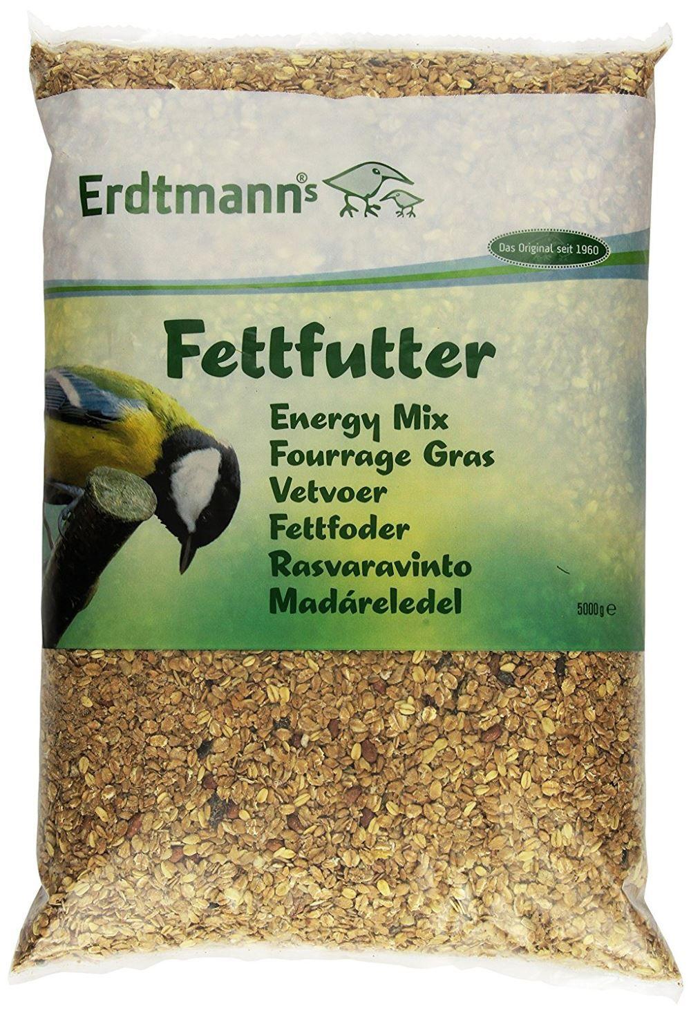 Erdtmanns Fettfutter 5kg Vögel füttern im Winter – Das günstigste Vogelfutter