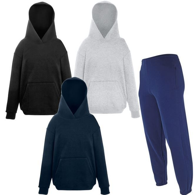 Fruit of the Loom   3 Hoodies + 1 Jogginghose für Damen, Herren und Kinder nur 19,99€