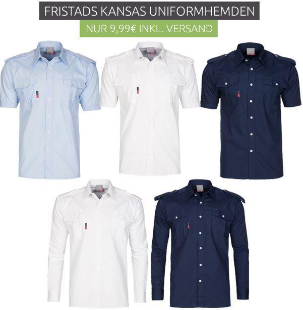 Fristads Kansas Hemden FRISTADS KANSAS Sale   z.B. Herren Uniform Hemden für 9,99€