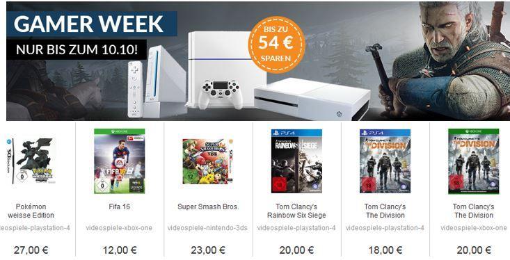 Gamerweek nur heute ReBuy Gaming Sale bis Mitternacht   viele günstige gebrauchte Konsolen und Games!