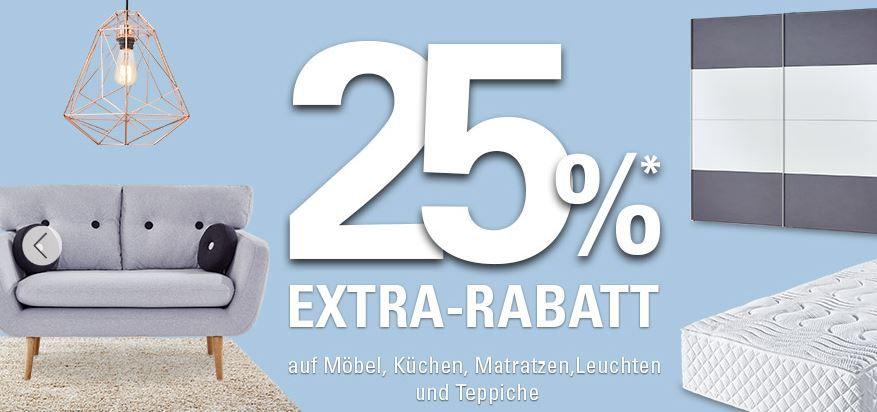 Höffner Rabatt Aktion Möbel Höffner mit 25% extra Rabatt auf Möbel, Küchen, Matratzen, Leuchten & Teppiche + VSK frei