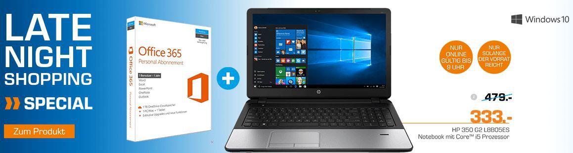 HP 350 G2 L8B05ES   15 Zoll i5 Notebook + Win 10 + Office 365 statt 469€ ab 299,70€