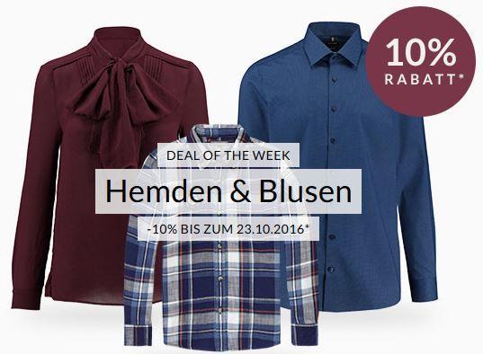 Hemden und Blusen Rabatt engelhorn mit 10% auf ausgewählte Blusen und Hemden   Joop, Hugo, Fred Perry