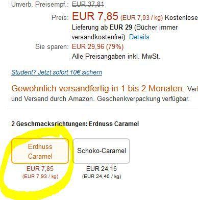 Hier auswählen Vorbei! ride Power Bar 18er Pack (990g) statt 33€ ab nur 7,46€