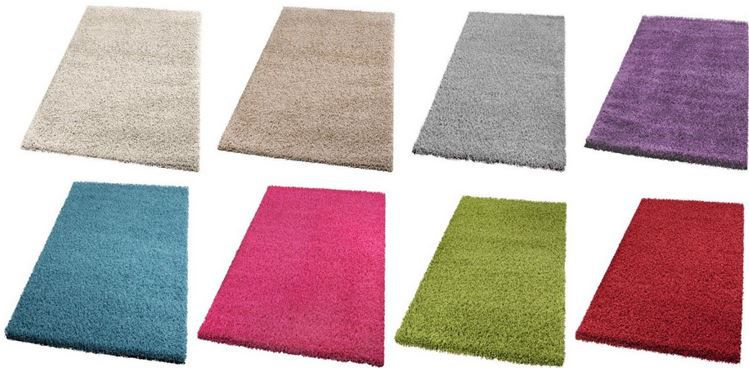 Hochflor Teppich günstig Shaggy Hochflor Teppich div. Größen u. Farben ab nur 1,80€