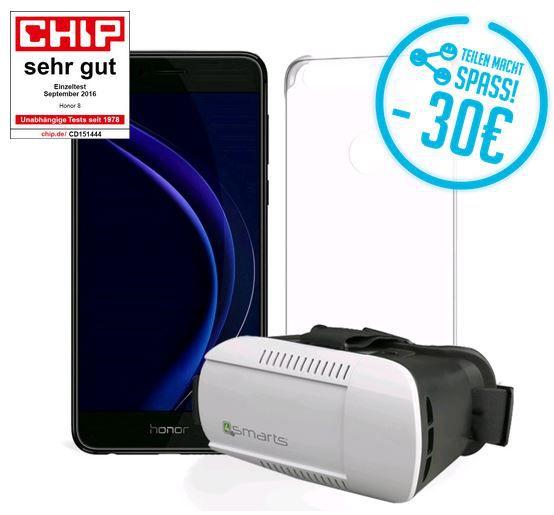 Honor 8 + VR Brille + Case für nur 369€
