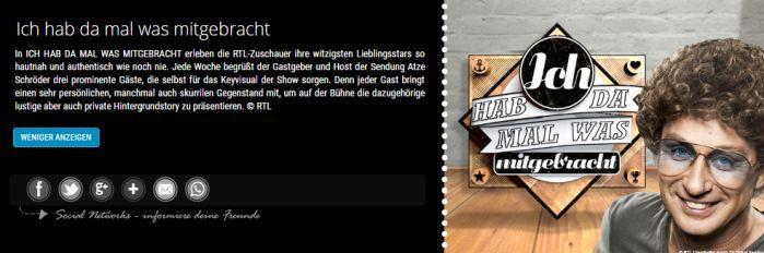 Ich hab da mal was mitgebracht banner Freikarten für Atze Schröder   Ich hab da mal was mitgebracht am 06.10. in Köln