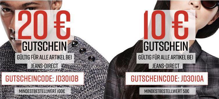 Jeans Direct Jeans Direct bis zu 60%  + 10€ oder 20€ Extra Rabatt   günstige Markenklamotten bis Mitternacht!
