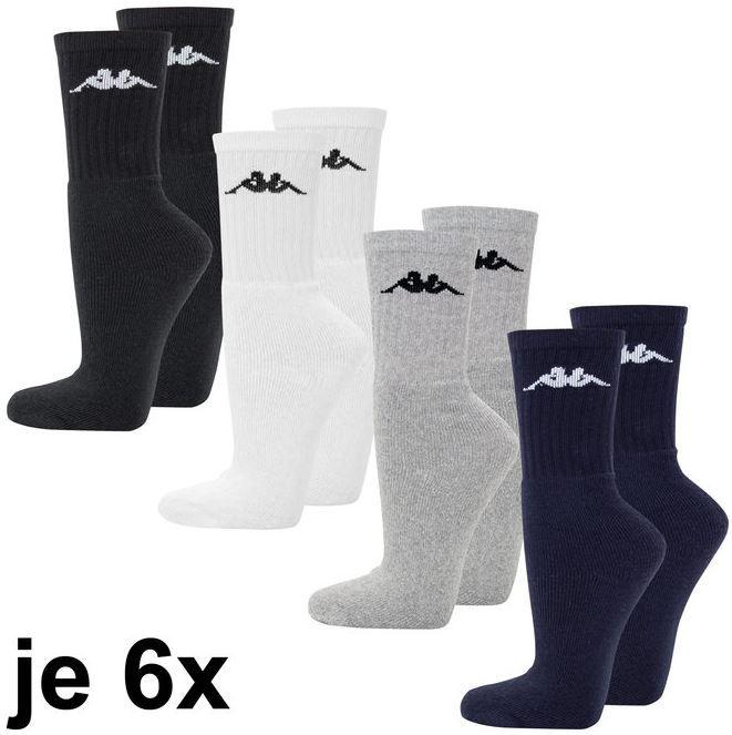 Kappa 24 Set Herren Socken Kappa Herren Sportsocken   24er Pack für 19,99€
