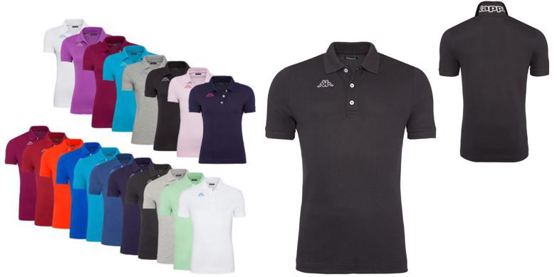 Kappa polo Shirt Kappa LIFE MSS   Herren und Damen Poloshirts für je nur 9,99€