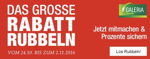Galeria Kaufhof: Das große Rabatt Rubbeln mit bis zu 30% Rabatt auf ausgewählte Artikel
