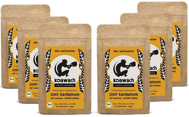 Koawach Bio Koawach 6er Set Energy Kakao statt 30€ ab 19,99€
