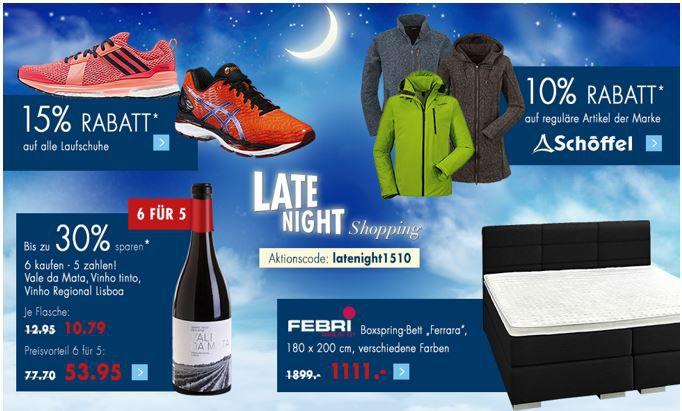 Latenight 1510 Gutschein Karstadt Weekend Late Night mit z.B. 20% auf alle Lego Artikel   oder 10€ Rabatt ab 60€ Einkauf