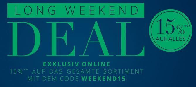 Long Weekend Peek & Cloppenburg Weekend Sale mit 15% extra Rabatt auf alles