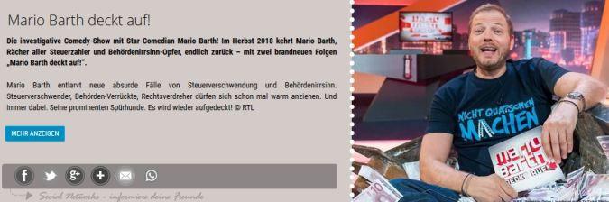 Freikarten für Mario Barth deckt auf! vom 15.09. bis 17.09.