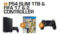 Mastepass Angebot Playstation 4 slim 1TB + 2. Controller + FIFA 17 statt 368€ für 299€