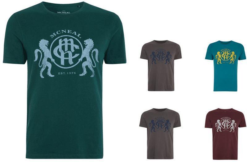 McNeal Herren Vintage Logo Shirt für nur 6,99€