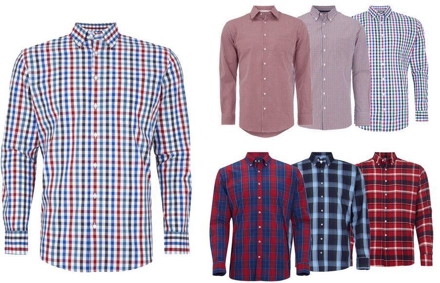 Montego Herren Hemd Montego Herren Hemden Modern und Slim Fit für je 13,95€