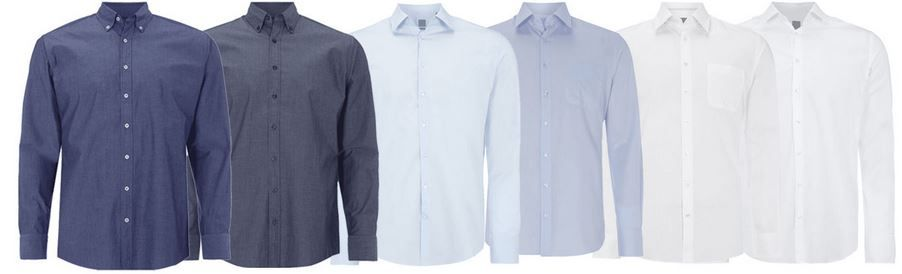 Montego Herren Hemden Modern und Slim Fit für je 13,95€