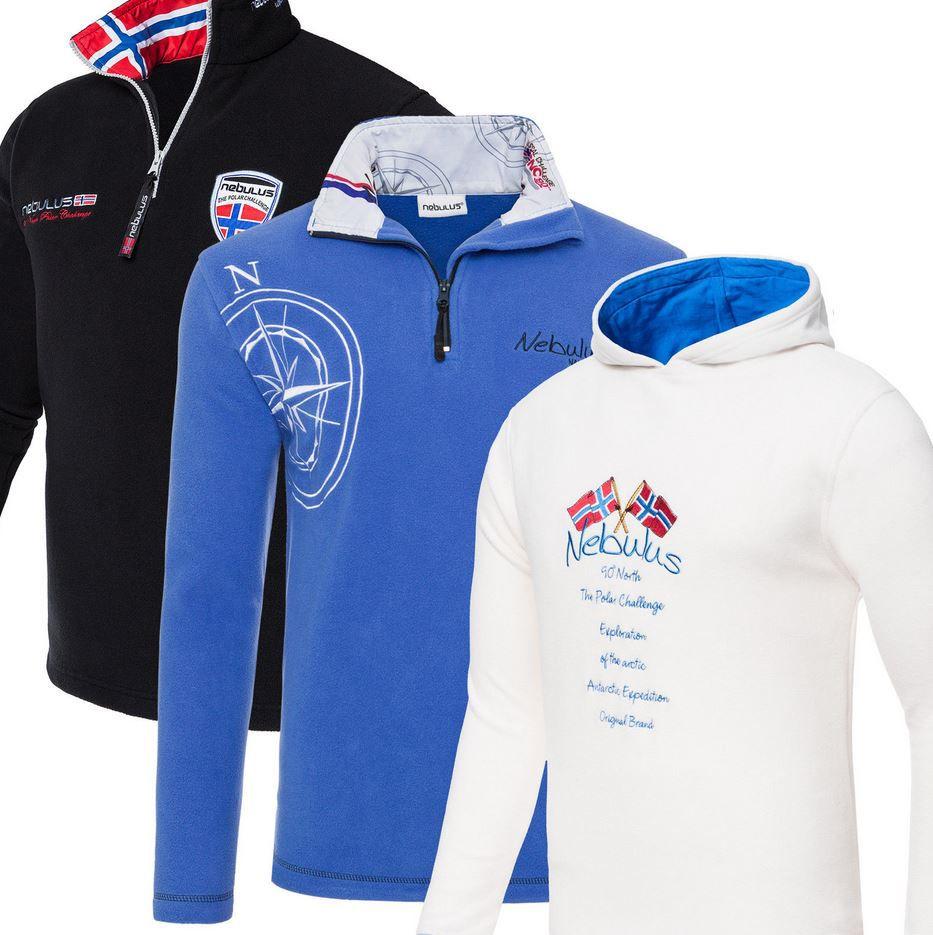 Nebulus   neue Modelle Fleecejacken und Pullover für Damen und Herren je 17,99€