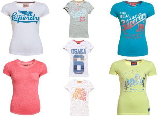 Superdry Damen Shirts verschiedene Modelle für je 12,95€ (statt 20€)
