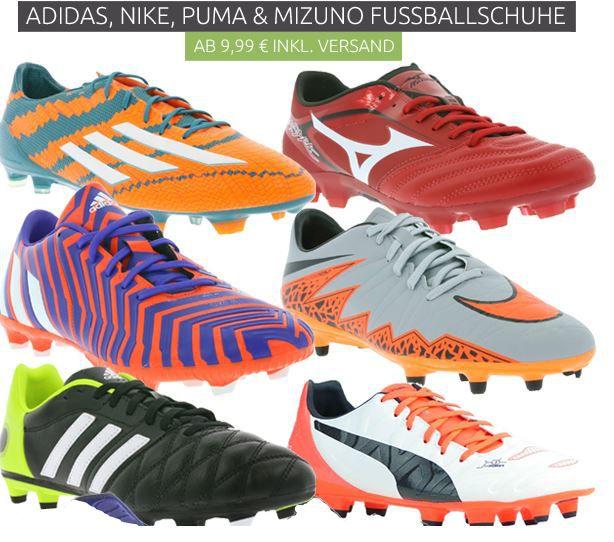 Adidas, Nike, Puma & Mizuno Fußballschuhe ab 9,99€