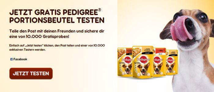 Pedigree Pedigree Portionsbeutel gratis testen   nur 10.000 mal