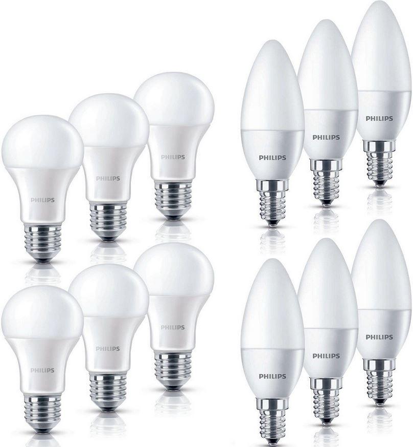 Philips LED Angebot Wow 6er Pack Philips LED Leuchten (5,5W/6W (40Watt) E27/E14/GU10) für je 17,99€