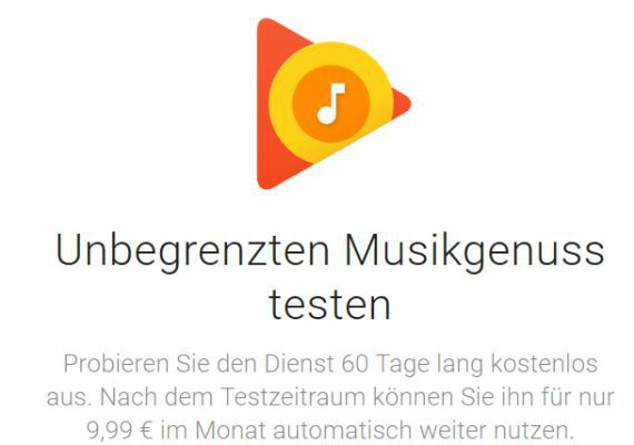 2 Monate Google Play Music gratis