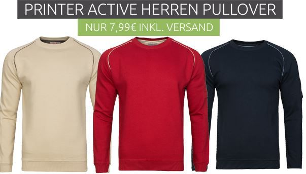Printer Active Sale Printer Active Herren Pullover für nur 2,99€