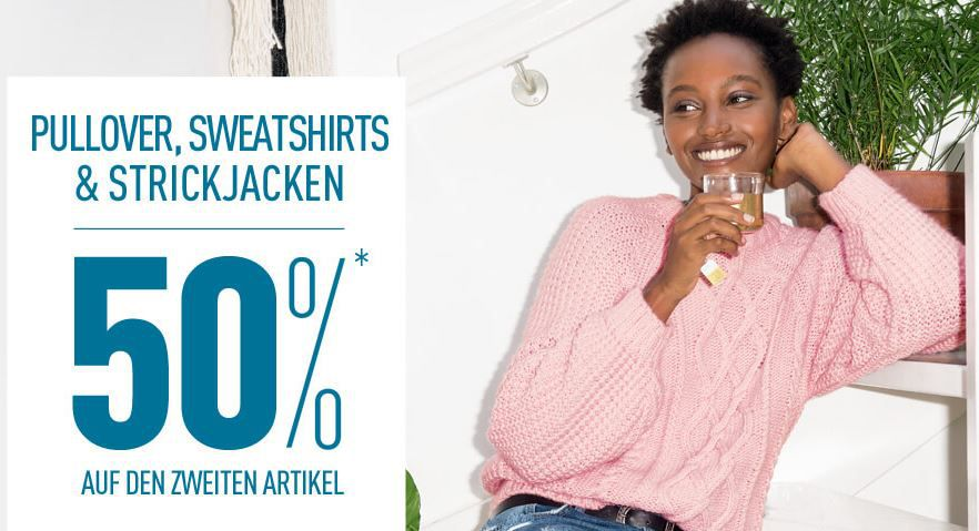 Pull over sale Pimkie Late Night Sale mit 30% Rabatt bis Mitternacht + Pullover Sale