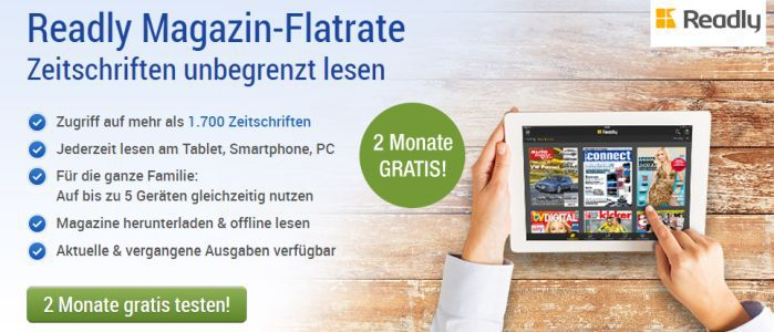 Readly GMX Nur für GMX Mitglieder: 2 Monate Readly kostenlos – Zugriff auf über 1.700 Magazine (Wert 19,98€)