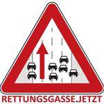 Rettungsgasse.jetzt Aufkleber gratis