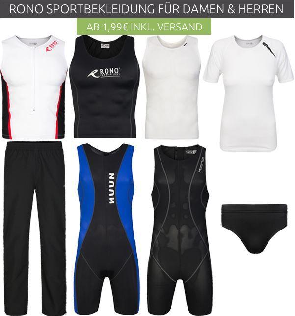 Rono Sport Sale RONO Triathlon  & Sportbekleidung Ausverkauf ab 1,99€