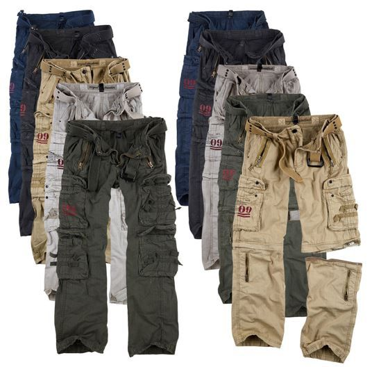 SURPLUS Raw Vintage Royal Traveler Herren Cargo Hosen bis 7XL für je 39,90€