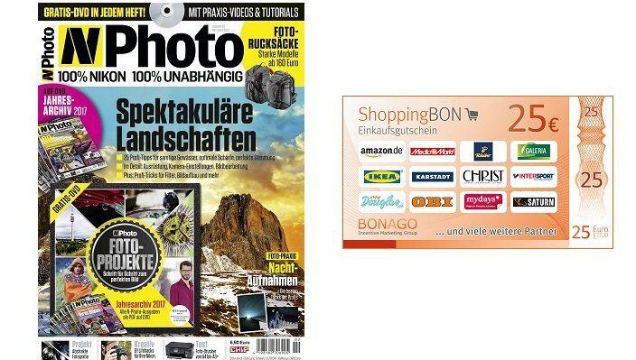 6 Ausgaben N Photo für 42,90€ + Prämie: 25€ Gutschein oder Scheck