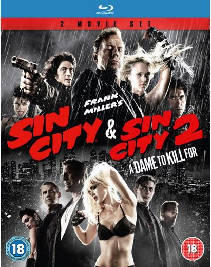 Sin City + Sin City 2 A Dame to kill for (Blu ray)  für nur 7,99€