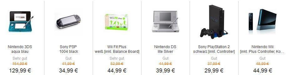Sony PSP ReBuy Gaming Sale bis Mitternacht   viele günstige gebrauchte Konsolen und Games!