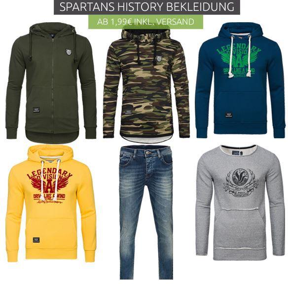 Spartans History Sale Spartans History Ausverkauf bei Outlet46   z.B. Herren Shirts ab 1,99€