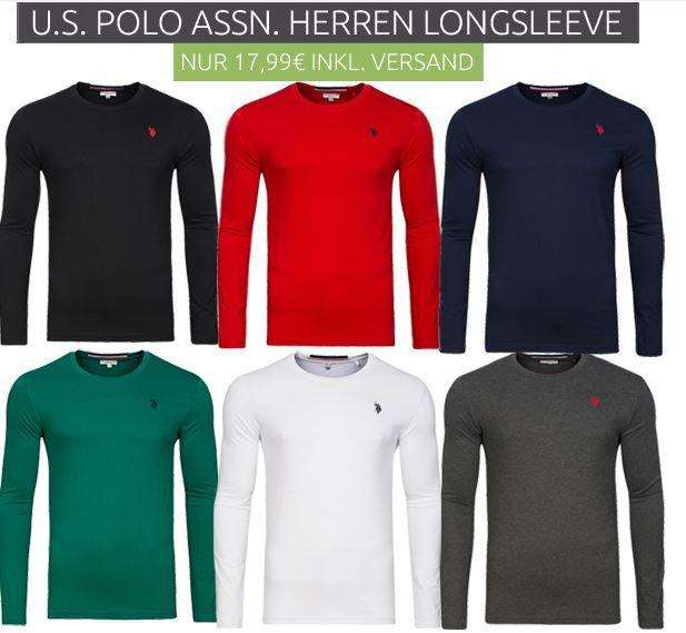 US Polo Assn Herren longsleeves U.S. POLO ASSN.   Herren Langarmshirts für je nur 17,99€ (statt 27€)