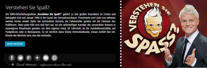 Freikarten für Verstehen Sie Spaß 11. Oktober (statt 25€)