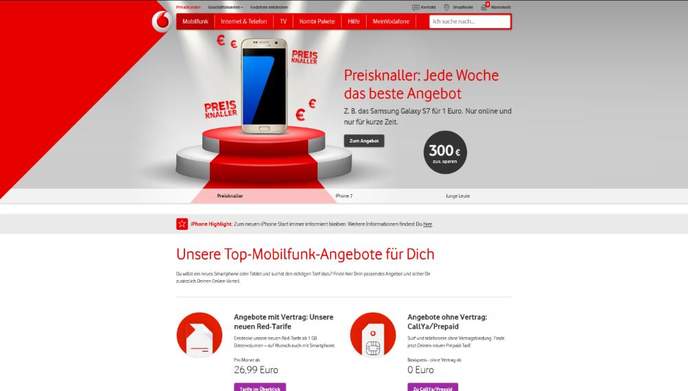 Vodafone Die besten Mobilfunkanbieter   Das beste Handynetz